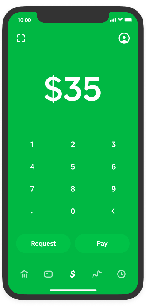 Cash App on iPhone with the Cash card